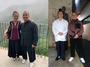 Thibaut avec les Maîtres Kewen et Yuan Limin